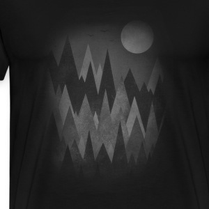 Dark Mystery Woods (Abstract Mountain Art) Tops - Men's Premium T-Shirt