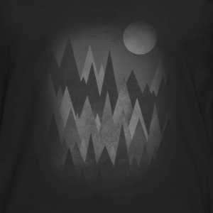 Dark Mystery Woods (Abstract Mountain Art) Sweat-shirts - T-shirt manches longues Premium Homme