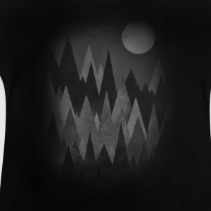 Dark Mystery Woods (Abstract Mountain Art) T-shirts - Baby T-shirt