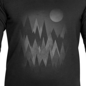 Dark Mystery Woods (Abstract Mountain Art) T-Shirts - Men's Sweatshirt by Stanley & Stella
