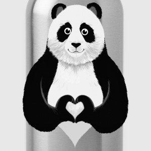 Cute Panda Heart Hand Sign Manga larga - Cantimplora