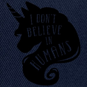 Marine I don´t believe in humans - unicorn Annet - Snapback-caps