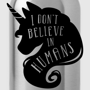 Menthe chiné I don´t believe in humans - unicorn Tee shirts - Gourde