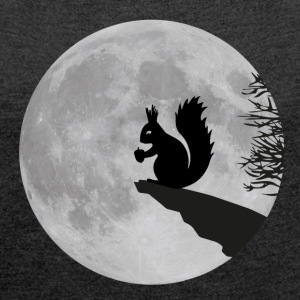 Moon squirrels full moon night Acorn Bags & Backpacks - Women's T-shirt with rolled up sleeves