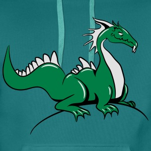dragon Tee shirts - Sweat-shirt à capuche Premium pour hommes