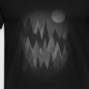 Dark Mystery Woods (Abstract Mountain Art) Long Sleeve Shirts - Men's Premium T-Shirt