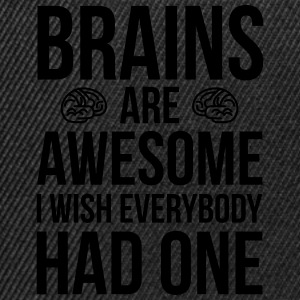 Brains Are Awesome Funny Quote Taschen & Rucksäcke - Snapback Cap
