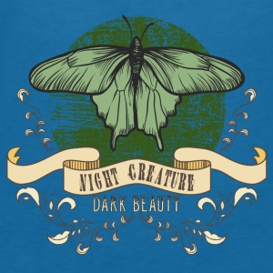 moth_creature_of_the_night_04201606 Baby Lätzchen - Frauen T-Shirt mit V-Ausschnitt