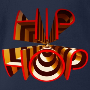 Hip Hop Rap 3D Tag Graffiti Text Schrift T-Shirts - Baby Bio-Kurzarm-Body
