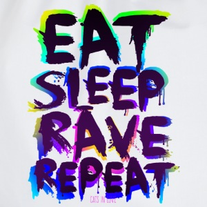 Eat Sleep Rave Repeat for white Shirts - Turnbeutel