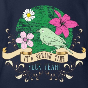 spring_time_04201602 T-Shirts - Baby Bio-Kurzarm-Body