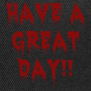 great-day-blackblood.png T-Shirts - Snapback Cap