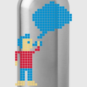 Retro Vaping - Pixels T-Shirts - Water Bottle