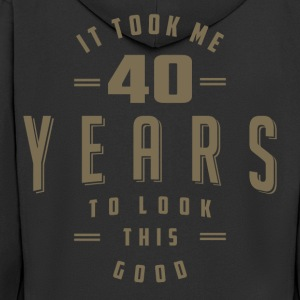 Funny 40th Birthday T-shirt - Men's Premium Hooded Jacket