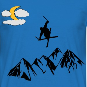 freestyle Skier - T-shirt herr