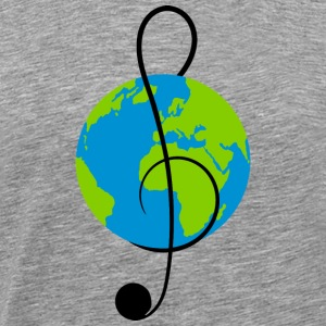 Long sleeve shirt with world music - Men's Premium T-Shirt