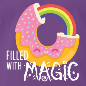 Purple Navy Donut - filled with magic T-Shirts Tops - Men's Premium T-Shirt