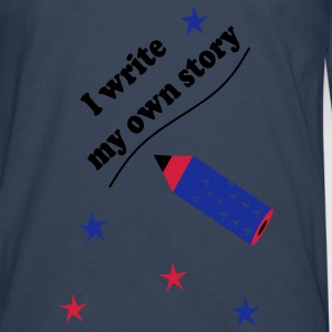 I write my own story Babybody - Premium langermet T-skjorte for menn
