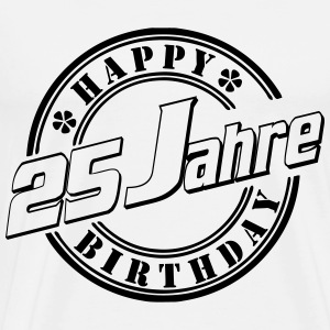 25Happy Birthday Siegel W Langarmshirts - Männer Premium T-Shirt