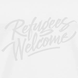 refugees welcome  Tops - Men's Premium T-Shirt