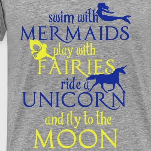 Mermaids, Fairies, Unicorn, Moon Tops - Männer Premium T-Shirt