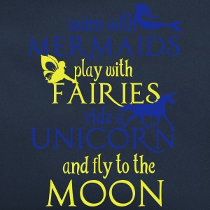 Mermaids, Fairies, Unicorn, Moon Gensere - Retro veske