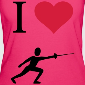 I love fencing - Women's Organic T-shirt