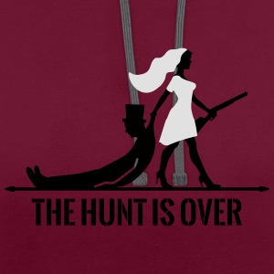 The hunt is over JGA Junggesellenabschied Party T-Shirts - Kontrast-Hoodie