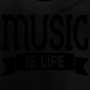 music is life Camisetas - Camiseta bebé