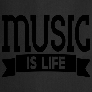 music is life Camisetas - Delantal de cocina