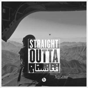 straight outta afghanistan Mugs & Drinkware - Men's Premium T-Shirt