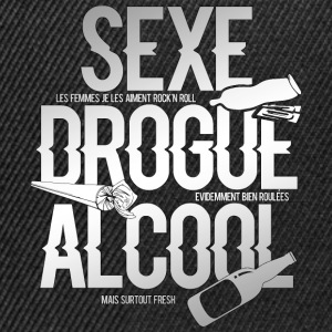 Sexe Drogue Alcool Sweat-shirts - Casquette snapback