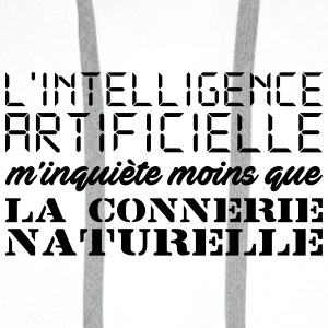 Intelligence artificielle Badges - Sweat-shirt à capuche Premium pour hommes