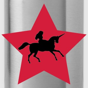 Star with Unicorn - Water Bottle