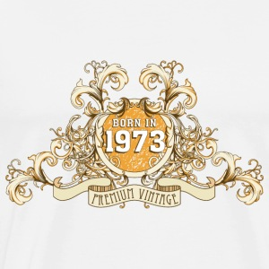 042016_born_in_the_year_1973a Schürzen - Männer Premium T-Shirt