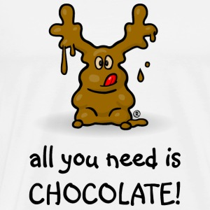 Elch Elmondo® – ALL YOU NEED IS CHOCOLATE! Pullover & Hoodies - Männer Premium T-Shirt