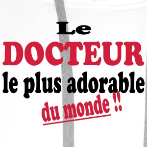 Le docteur le plus adorable du monde !! T-skjorter - Premium hettegenser for menn