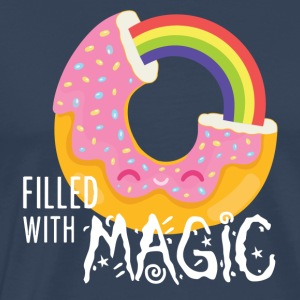 Navy Donut - filled with magic T-Shirts - Men's Premium T-Shirt