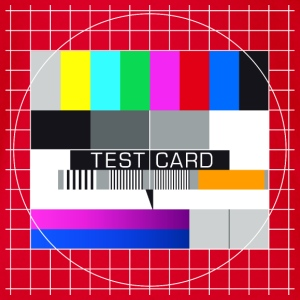 Fernseh-Testbild test card Vintage Retro TV-screen - Baby Bio-Kurzarm-Body