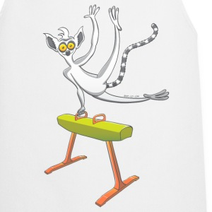 Athletic Lemur Performing on the Pommel Horse Baby Bodysuits - Cooking Apron