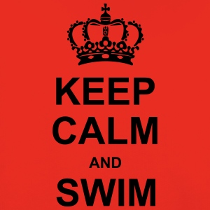 Keep Calm and Swim T-shirts - Kinderen trui Premium met capuchon