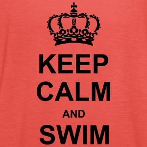 Keep Calm and Swim T-shirts - Vrouwen tank top van Bella