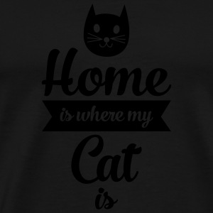 Home Is Where My Cat Is Mokken & toebehoor - Mannen Premium T-shirt