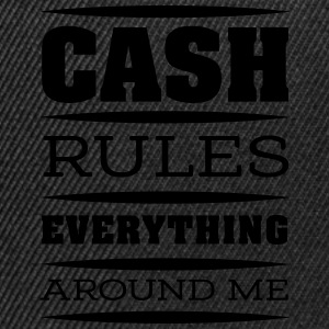 cash rules T-Shirts - Snapback Cap
