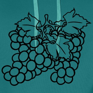 many grape grapes harvest tasty wine T-Shirts - Men's Premium Hoodie