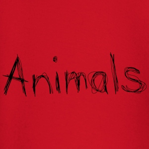 animals text schrift gekritzelt T-Shirts - Baby Langarmshirt