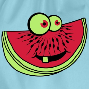 melon piece slice watermelon eating delicious comi T-Shirts - Drawstring Bag