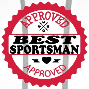Approved best sportsman Tee shirts - Sweat-shirt à capuche Premium pour hommes