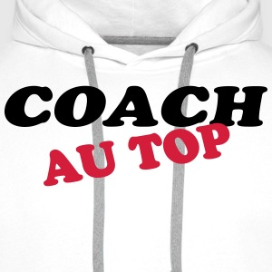 Coach au top Tee shirts - Sweat-shirt à capuche Premium pour hommes
