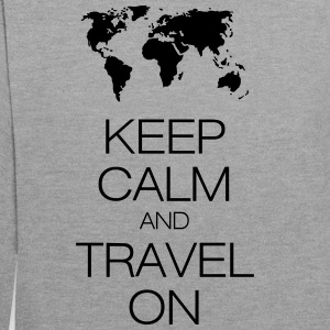 keep calm and travel on T-Shirts - Contrast Colour Hoodie